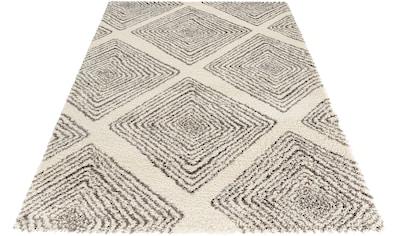 MINT RUGS Hochflor-Teppich »Wire«, rechteckig, 35 mm Höhe, Allover Design im Skandi Look, Wohnzimmer kaufen