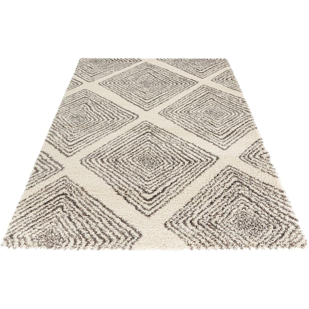 MINT RUGS Hochflor-Teppich »Wire«, rechteckig, 35 mm Höhe, Allover Design im Skandi Look, Wohnzimmer