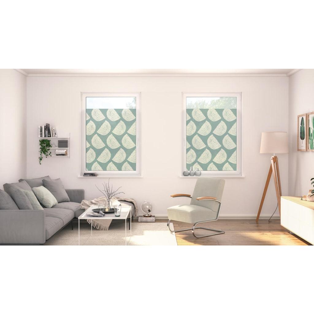 LICHTBLICK ORIGINAL Fensterfolie »Fensterfolie selbstklebend, Sichtschutz, Moving Rainbow - Grün«, 1 St., blickdicht, glattstatisch haftend