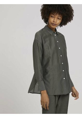 TOM TAILOR mine to five Hemdbluse »Oversized Bluse mit Seide« kaufen