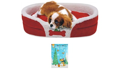 HEIM Hundebett »Weihnachtsset Hund«, BxL: 72x52 cm, rot kaufen