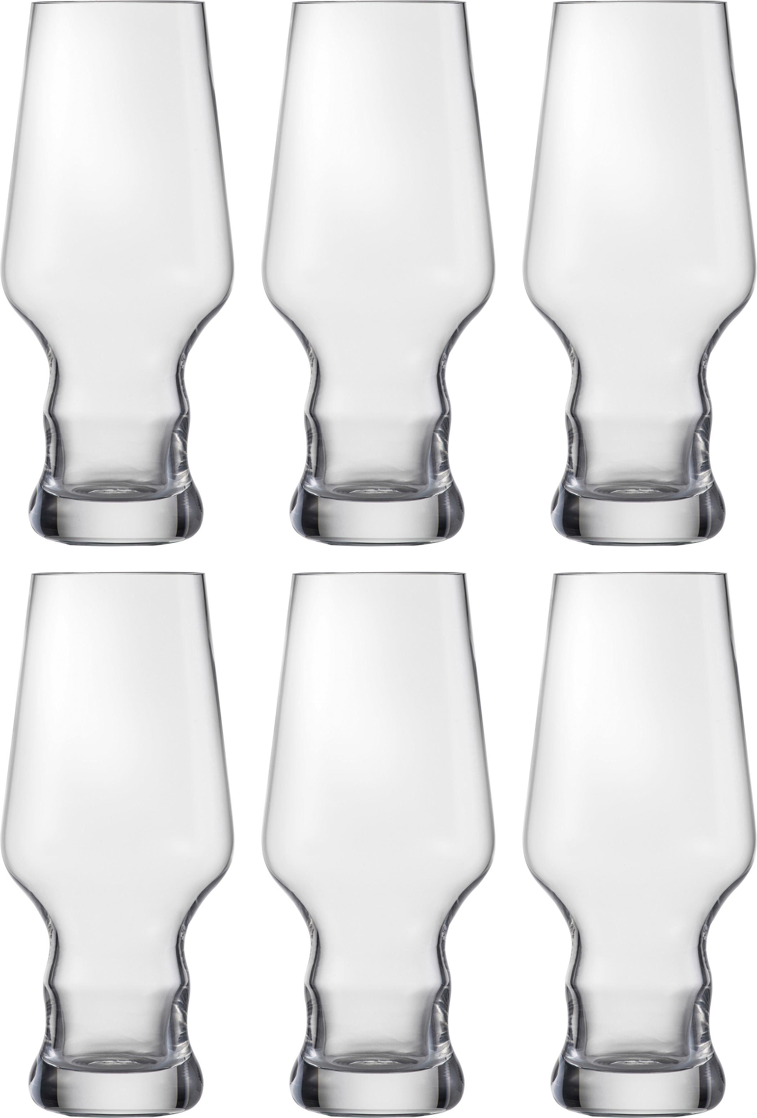 Eisch Bierglas Craft Beer Becher, (Set, 6 tlg.), bleifreies Kristallglas, 450 ml farblos Kristallgläser Gläser Glaswaren Haushaltswaren