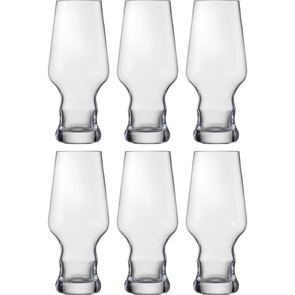 Eisch Bierglas »Craft Beer Becher«, (Set, 6 tlg.), bleifrei, 450 ml, 6-teilig