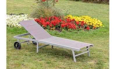 MERXX Gartenliege »Aktionsliege«, 5-fach verstellbar, Aluminiumgestell mit Textilbezug kaufen