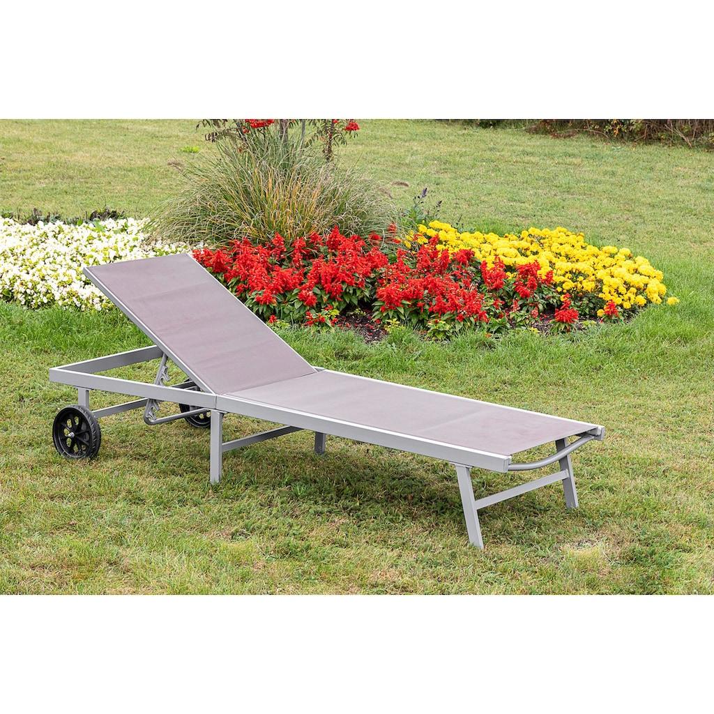 MERXX Gartenliege »Aktionsliege«, 5-fach verstellbar, Aluminiumgestell mit Textilbezug