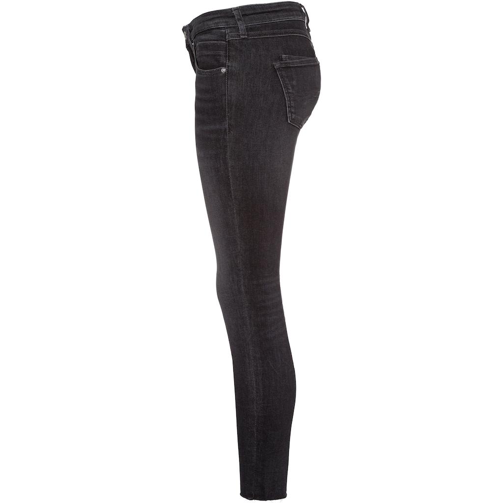 Tommy Jeans Skinny-fit-Jeans »SCARLETT LR SKNY ANKLE AE170 BKS«, mit leichten Faded-out Effekten & Tommy Jeans Logo-Badge