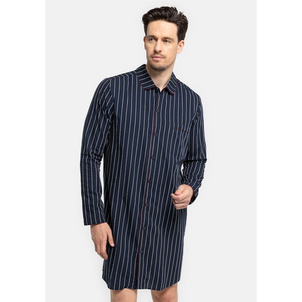 seidensticker Nachthemd »für den Herren aus Webware«, mit Knöpfen