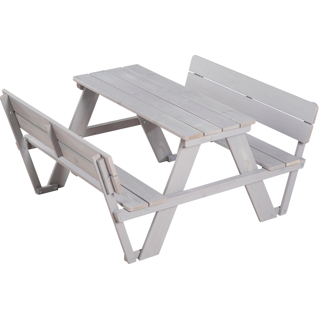 roba® Kindersitzgruppe »Picknick for 4 Outdoor Deluxe, Grau« (Set, 1-tlg)