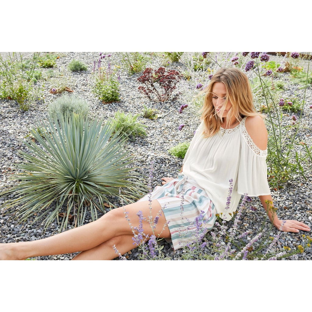Aniston CASUAL Schlupfbluse, mit Häkelspitze