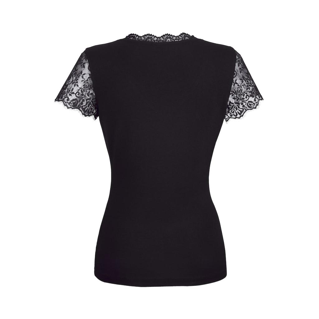 Alba Moda Shirt mit femininer Spitze