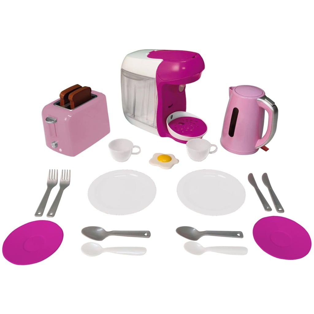 Klein Kinder-Küchenset »Bosch Haushalt Frühstückset«, mit Toaster, Kaffeemaschine, Wasserkocher u.v.m.