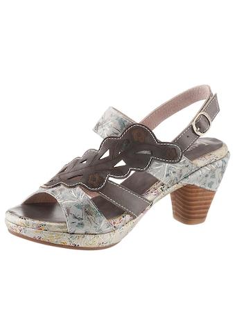 LAURA VITA Sandalette »Beclforto«, mit verstecktem Klettverschluss unter der Blatt-Applikation kaufen