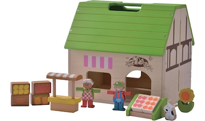 EverEarth® Puppenhaus »Bio-Laden Mitnehm-Puppenhaus«, aufklappbar, FSC®-Holz aus gewissenhaft bewirtschafteten Wäldern kaufen