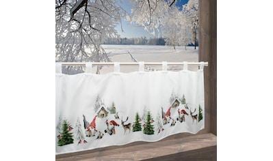 Delindo Lifestyle Scheibengardine »Winterstimmung«, mit Schlaufenaufhängung, für die... kaufen
