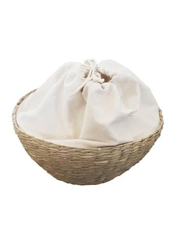 Franz Müller Flechtwaren Dekoschale, aus Seegras, rund, mit Stoffeinsatz kaufen