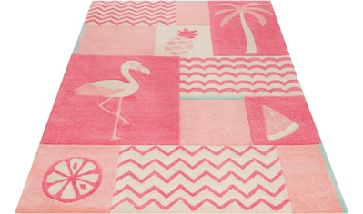 Kinderteppich, »Fruity Flamingo«, SMART KIDS, rechteckig, Höhe 9 mm, handgetuftet kaufen
