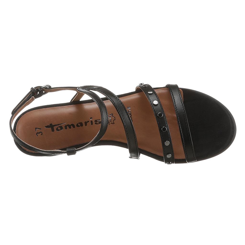 Tamaris Keilsandalette »LEINI«, mit modischer Nietenverzierung