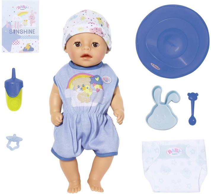 Baby Born Babypuppe Soft Touch Little Boy, 36 cm blau Kinder Babypuppen Puppen