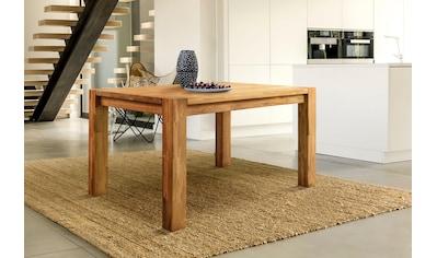 Home affaire Esstisch »Tim«, aus massivem Eichenholz, in fünf verschiedenen Breiten erhältlich kaufen