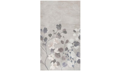Bodenmeister Fototapete »Betonwand Blumen grau« kaufen