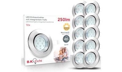 B.K.Licht LED Einbaustrahler, GU10, 10 St., Warmweiß, LED Einbauleuchten schwenkbar... kaufen