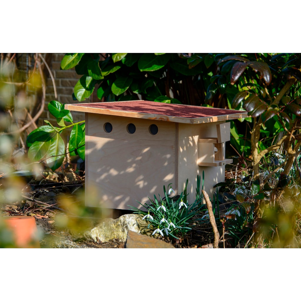 dobar Insektenhotel »Profi-Hummelkasten«, BxTxH: 51x43x36 cm, mit rotem Bitumendach