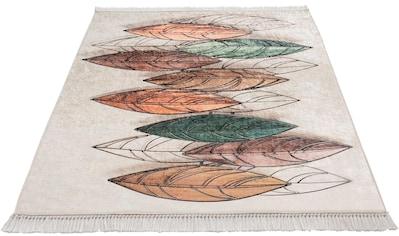 Sehrazat Teppich »Caimas 2950«, rechteckig, 5 mm Höhe, waschbar, weiche Microfaser, Wohnzimmer kaufen
