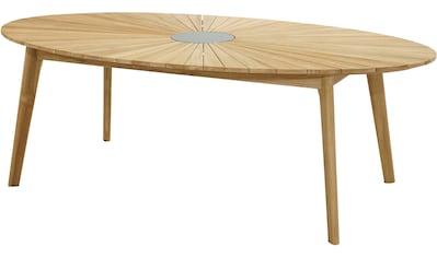 PLOSS Gartentisch »Chester«, Teakholz/Granit, 220x120 cm kaufen