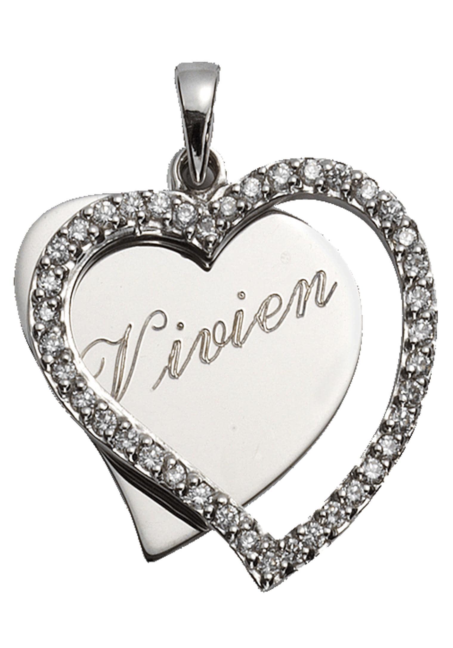 Firetti Anhänger mit Gravur Herz - individuell mit persönlicher kostenloser Gravur   Schmuck > Halsketten > Herzketten   Firetti