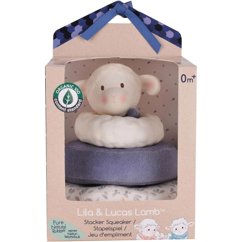TIKIRI Stapelspielzeug »Lucas Lamm«, aus zertifizierter Bio-Baumwolle (Organic Content Standard 100)