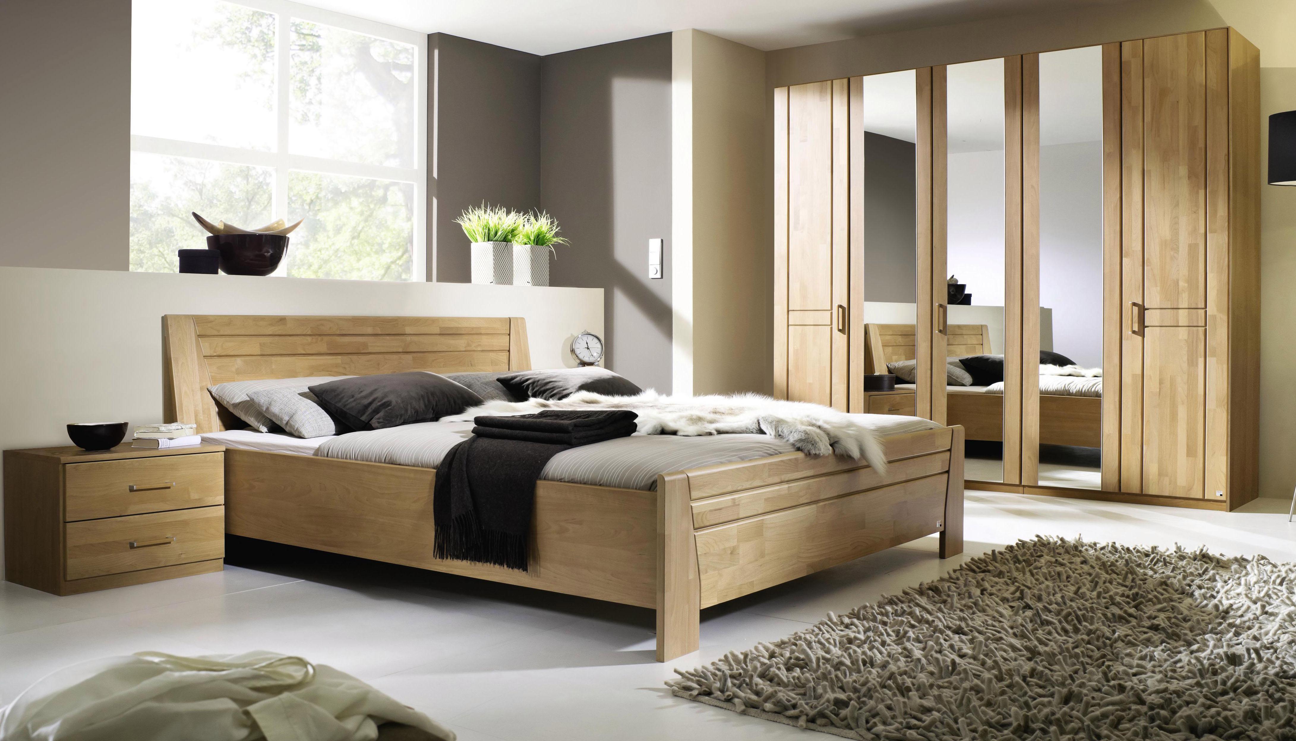 Schlafzimmer-Set (4-tlg) | Schlafzimmer > Komplett-Schlafzimmer | Massiver - Webstoff - Melamin