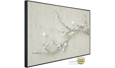 Papermoon Infrarotheizung »Blumen mit Schmetterlingen weiß«, sehr angenehme... kaufen