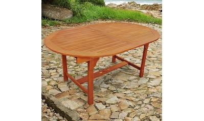 indoba Gartentisch »Sun Flair«, oval, ausziehbar - IND-70001-TI kaufen