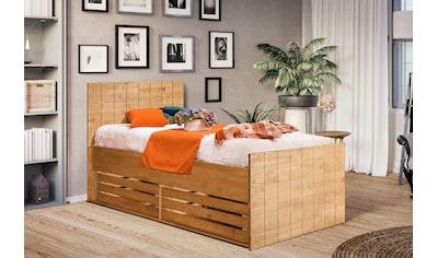 Home affaire Einzelbett »Axel«, aus Kiefer massiv, mit Bettkasten kaufen