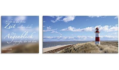 Artland Glasbild »Zitatenbild, Leuchtturm Sylt« kaufen
