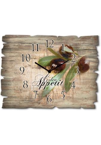 Artland Wanduhr »Oliven Guten Appetit«, lautlos, ohne Tickgeräusche, nicht tickend,... kaufen