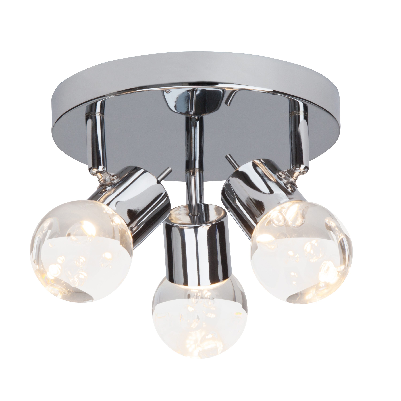 Brilliant Leuchten Lastra LED Spotrondell 3flg chrom