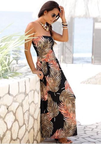 LASCANA Maxikleid, mit Palmen-Alloverprint kaufen