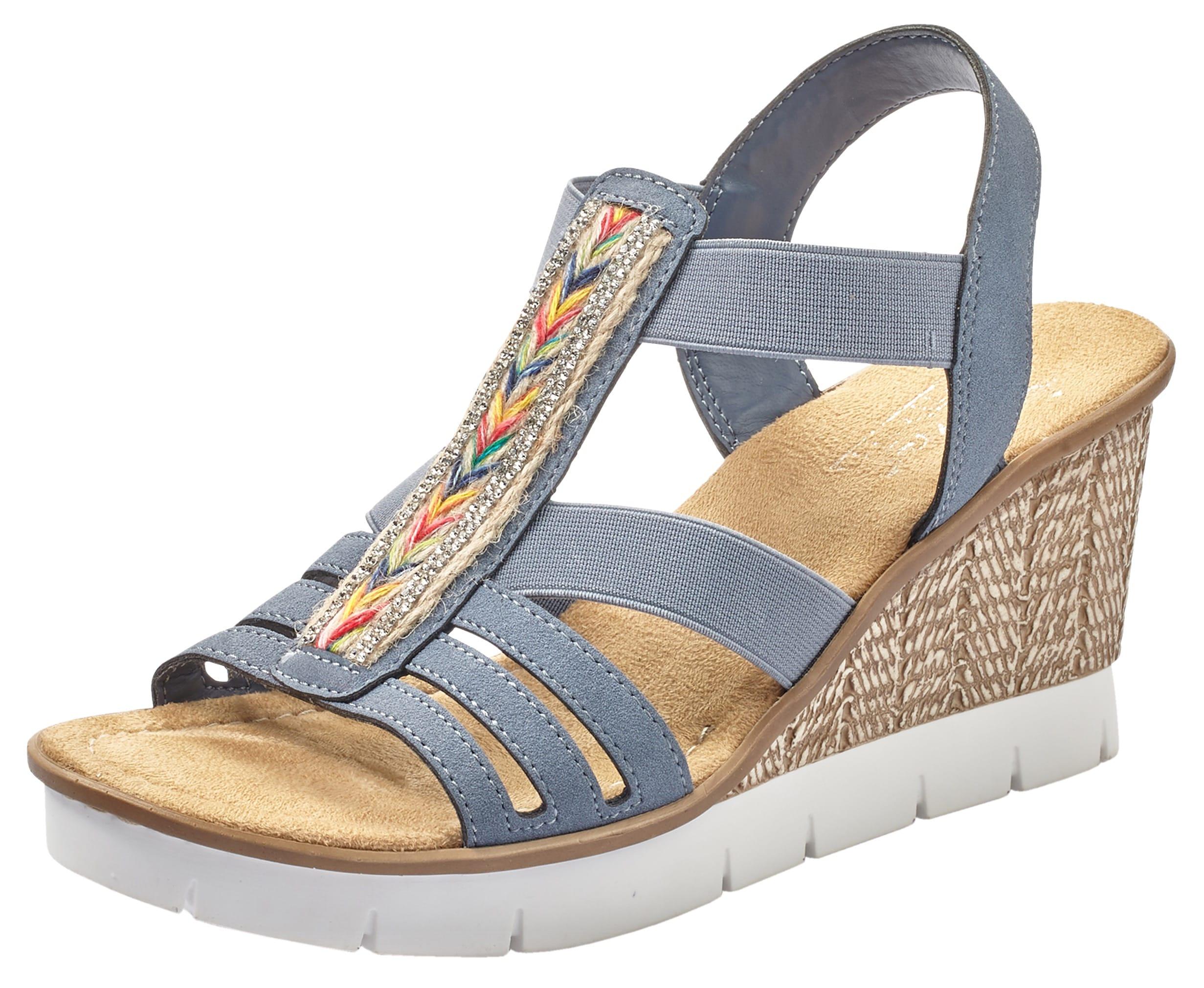 rieker -  Sandalette, mit trendiger Stickerei