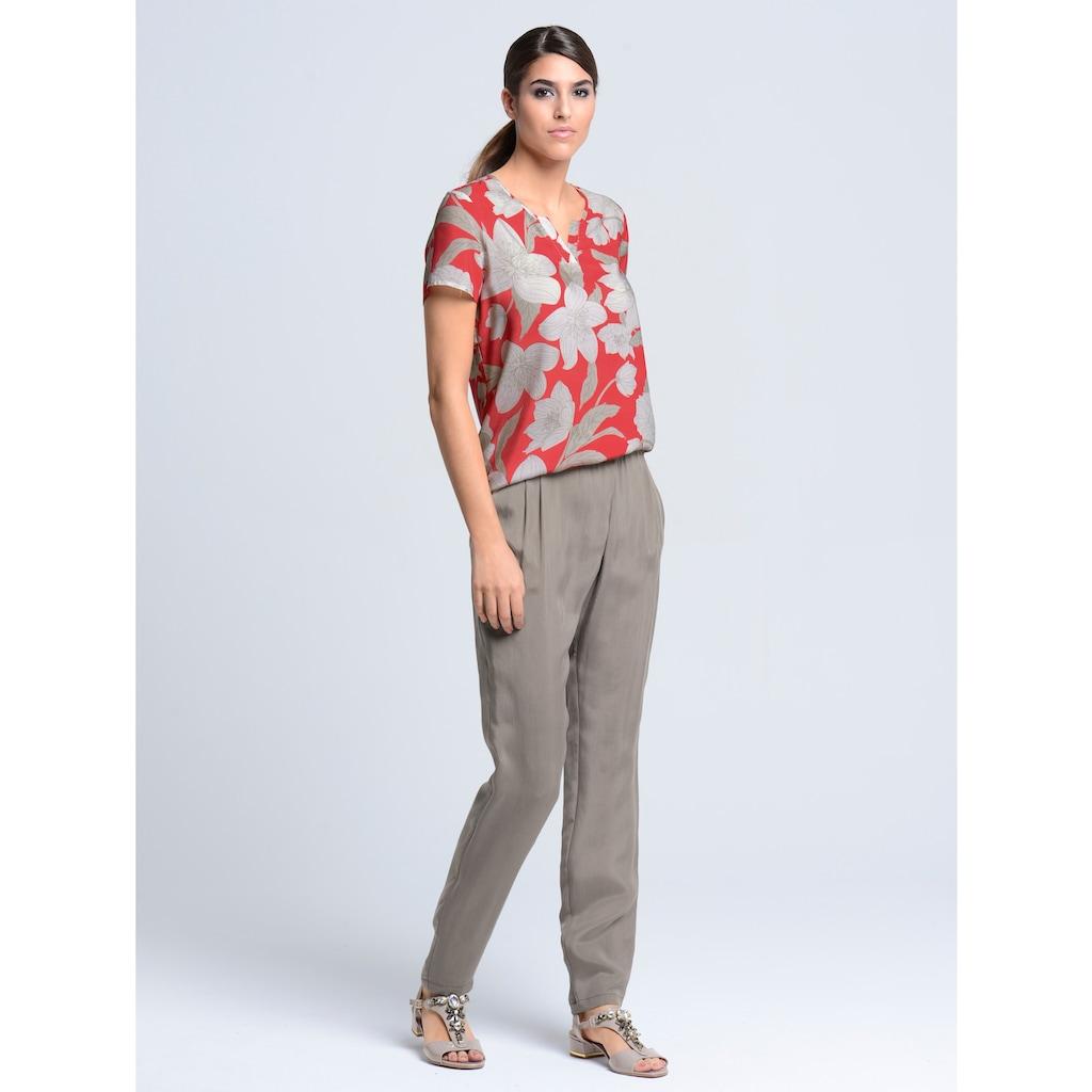 Alba Moda Blusenshirt mit edlem Blumenprint