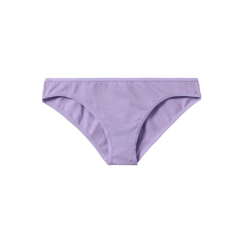 petite fleur Bikinislip, (8 St.), mit Sternen-Print oder unifarbenem Design
