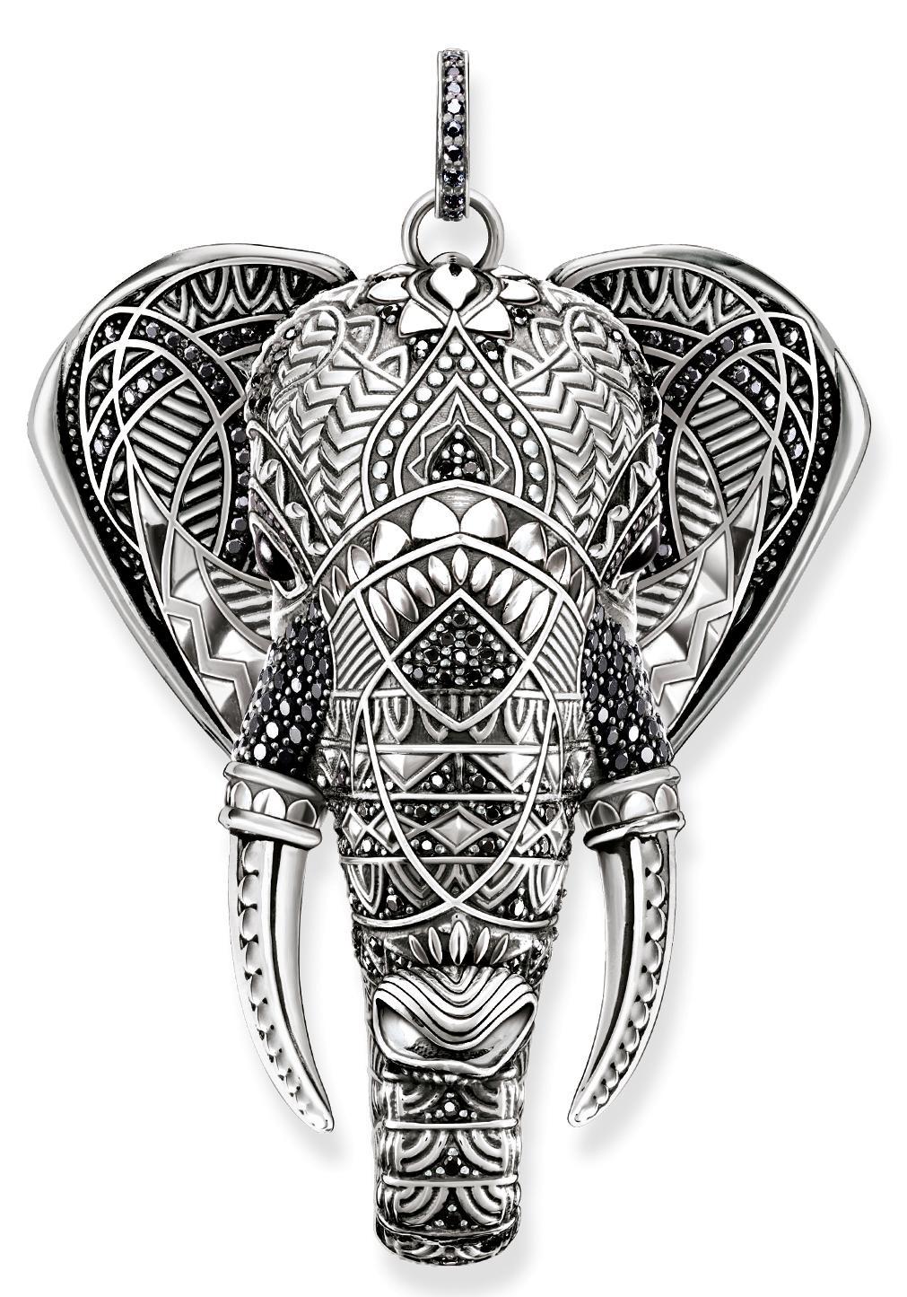 THOMAS SABO Kettenanhänger Elefant PE738-641-11 | Schmuck > Halsketten > Kettenanhänger | Schwarz | Thomas Sabo