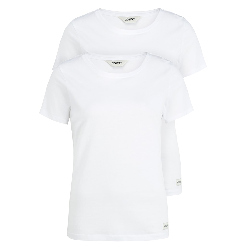 OXMO T-Shirt »Otta«, Basic-T-Shirts im 2er Pack