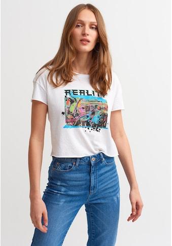 OXXO Rundhalsshirt, mit modischem Print kaufen