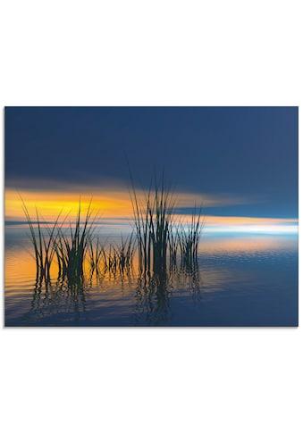Artland Glasbild »Sonnenuntergang III«, Gewässer, (1 St.) kaufen