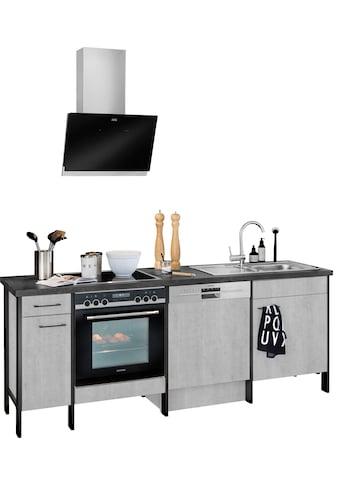 OPTIFIT Küchenzeile »Tokio«, ohne E-Geräte, Breite 224 cm, mit Stahlgestell, mit Vollauszügen kaufen