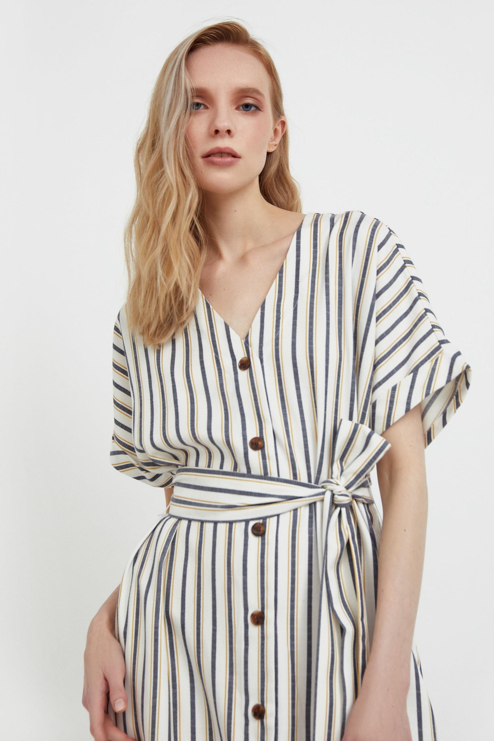 finn flare -  Jerseykleid, mit modischem Streifenprint