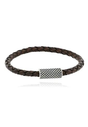 JULES & GENTS Armband »#gentlebow Braun«, Lederarmband geflochten kaufen