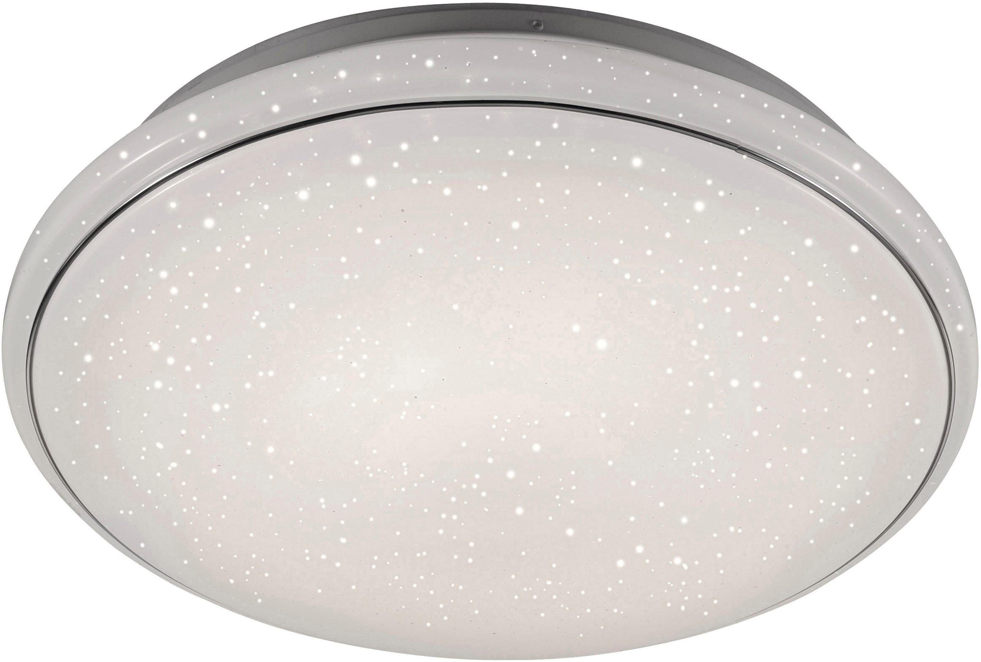Leuchten Direkt Deckenleuchte JUPITER, LED-Board, 1 St., Warmweiß-Neutralweiß-Tageslichtweiß, CCT - Farbtemperaturregelung (verstellbar von 3000-5000K) Dimmbar über Fernbedienung Serienschalter Memoryfunktion, Ø 80 cm
