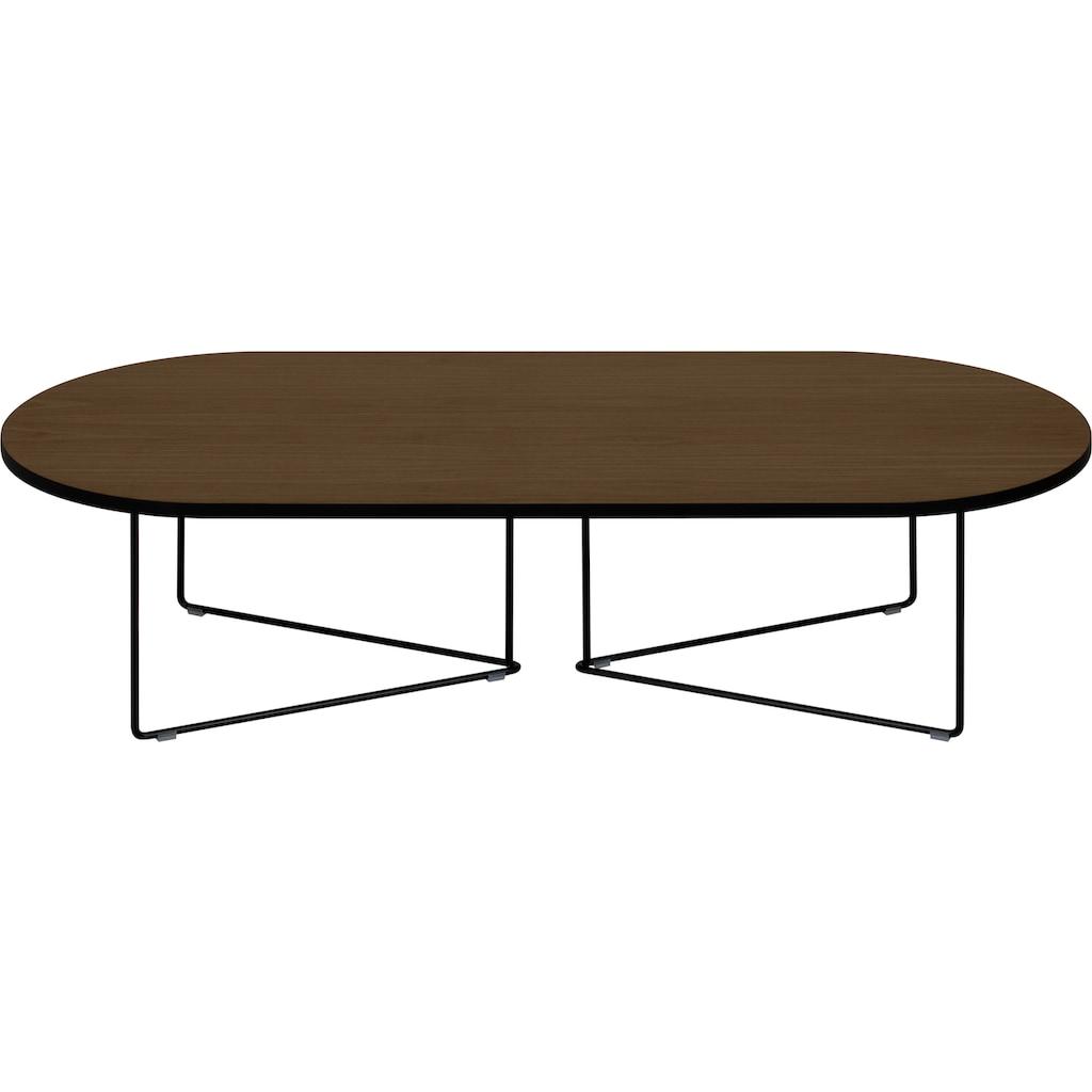 TemaHome Couchtisch »Oval«, mit einer Holzfurnier Tischplatte und einem edlen Metallgestell